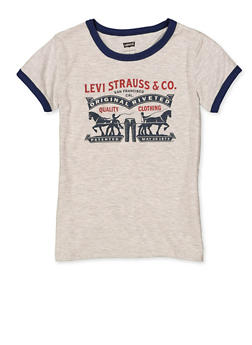 Girls 7-16 Levis Contrast Trim Tee - 3635070340044