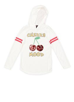 Girls 7-16 Reversible Sequin Cherry Graphic Tee - 3635073990059