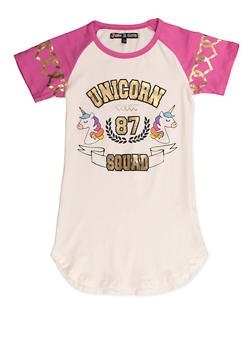 Girls 7-16 Unicorn Squad 87 Tee - 3635075540016