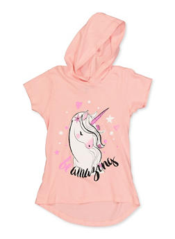 Girls 7-16 Be Amazing Unicorn Graphic Top - 3635075540026