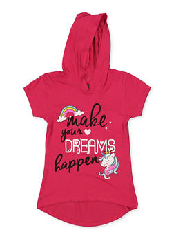Girls 7-16 Make Your Dreams Happen Hooded Tee - 3635075540028
