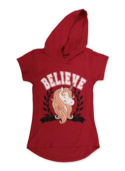 Girls 7-16 Believe Unicorn Graphic Top - 3635075540038