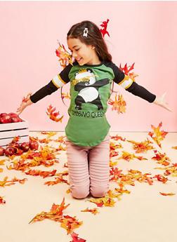 Girls 7-16 Panda Dabbing Queen Graphic Top - 3635075540042