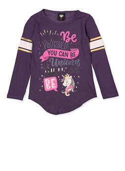 Girls 7-16 Unicorn Graphic Tee - 3635075540049