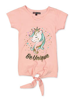 Girls 7-16 Be Unique Unicorn Graphic Tee - 3635075540062