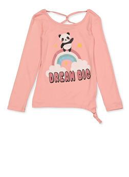 Girls 7-16 Panda Dream Big Tee - 3635075540117