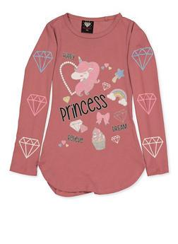 Girls 7-16 Princess Graphic Tee - 3635075540138