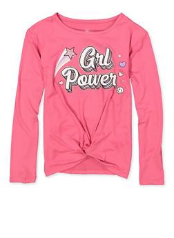 Girls 7-16 Glitter Grl Power Tee - 3635075540142