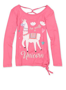 Girls 7-16 Im Really A Unicorn Glitter Graphic Tee - 3635075540151
