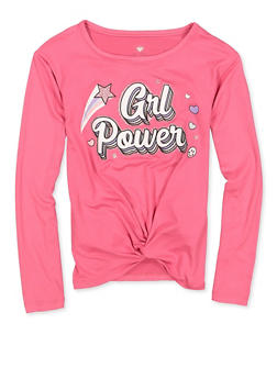 Girls 7-16 Grl Power Twist Front Tee - 3635075540165