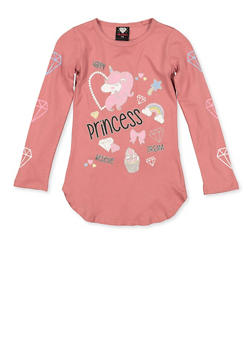 Girls 7-16 Princess Unicorn Tee - 3635075540180