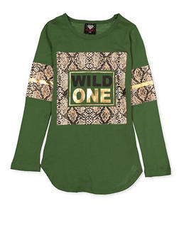 Girls 7-16 Wild One Foil Tee - 3635075540182