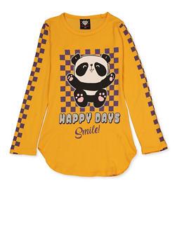 Girls 7-16 Happy Days Smile Panda Tee - 3635075540183