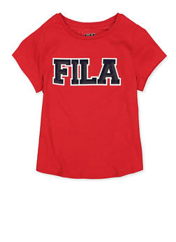 Girls 7-16 Fila Tee | Red - 3635075650006