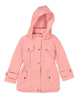 Girls 4-6x Hooded Button Front Jacket - 3636038340030