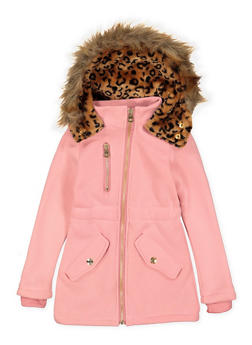 Girls 4-6x Faux Fur Hooded Jacket - 3636038340032