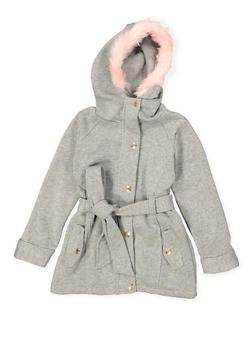 Girls 4-6x Faux Fur Hooded Jacket - 3636038340033