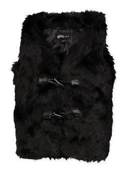 Girls 4-6x Faux Fur Vest - 3636038340037