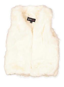 Girls 4-6x Open Front Faux Fur Vest - 3636038340038