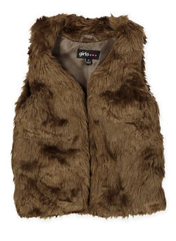 Girls 4-6x Faux Fur Vest - 3636038340039