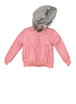 Girls 4-6x Hooded Bomber Jacket - 3636038340041