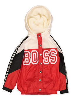 Girls 4-6x Boss Snap Front Windbreaker - 3636038340065