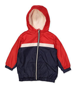 Girls 4-6x Color Block Sherpa Lined Windbreaker - 3636038340066