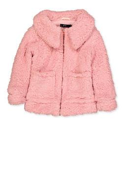 Girls 4-6x Sherpa Jacket - 3636038340073