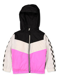 Girls 4-6x Hooded Windbreaker - 3636038340075
