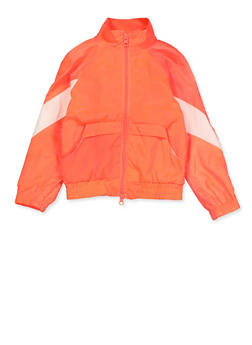 Girls 4-6x Neon Windbreaker - 3636051060060