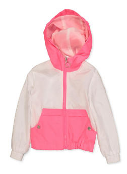 Girls 4-6x Color Block Hooded Windbreaker - 3636051060064