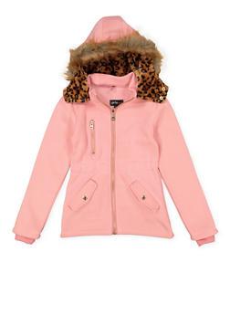 Girls 7-16 Faux Fur Hooded Jacket - 3637038340042