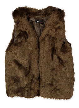 Girls 7-16 Faux Fur Vest - 3637038340049