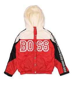 Girls 7-16 Boss Sherpa Lined Windbreaker - 3637038340080