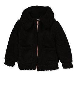 Girls 7-16 Sherpa Jacket - 3637038340088