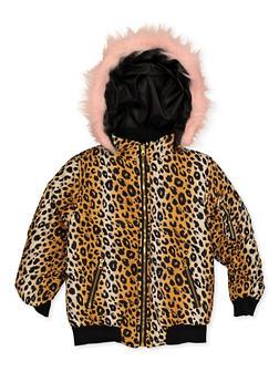 Girls 7-16 Printed Puffer Jacket - 3637038340103