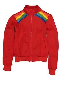 Girls 7-16 Rainbow Stripe Detail Track Jacket | 3637051060111 - 3637051060111