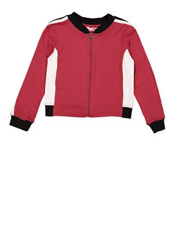 Girls 7-16 Color Blocked Track Jacket - 3637060580001