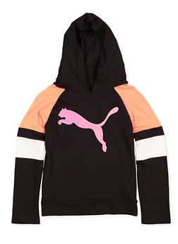 Girls 7-16 Puma Color Block Hooded Top - 3639075230012