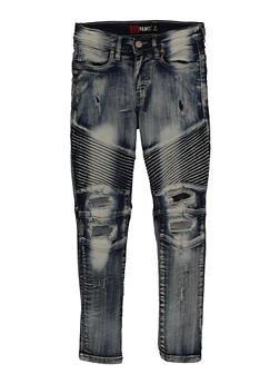 Girls Ripped Moto Jeans - 3720023130153