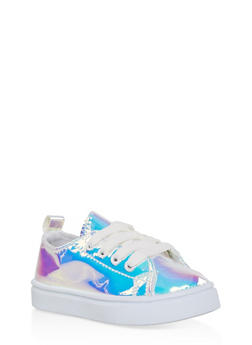 Girl 6-11 Iridescent Lace Up Sneakers - 3736062720015