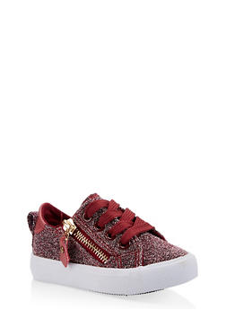 Girls 6-11 Glitter Lace Up Sneakers - 3736062720041
