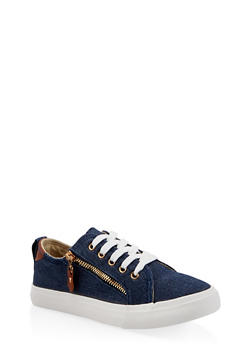 Girls 12-4 Lace Up Denim Sneakers - 3736062720048