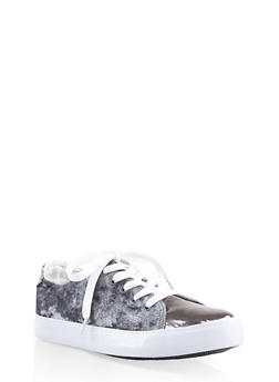 Girls 12-4 Velvet Lace Up Sneakers - 3736062720049