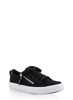Girls 12-4 Glitter Lace Up Sneakers - 3736062720055