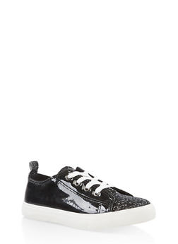 Girls 12-4 Glitter Accent Lace Up Sneakers - 3736062720056