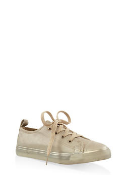Girls 12-4 Glitter Lace Up Sneakers - 3736062720062