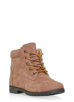 Girls 12-4 Lace Up Booties - 3736062720064
