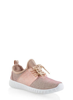 Girls 12-4 Knit Lace Up Sneakers - 3736062720069