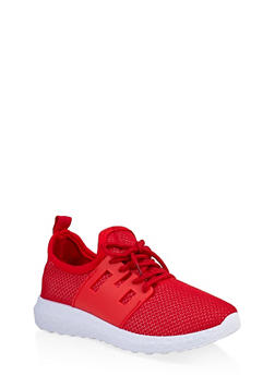 Girls 12-4 Knit Athletic Sneakers | 3736062720072 - 3736062720072